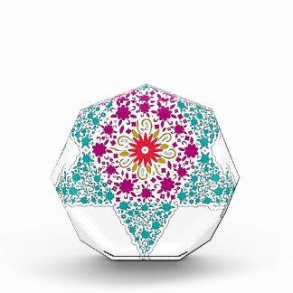 Colorized Star of David Seal design in Jerusalem Award