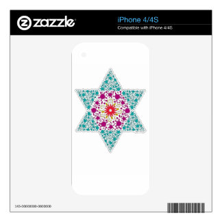 Colorized Star of David Seal design in Jerusalem Decal For The iPhone 4