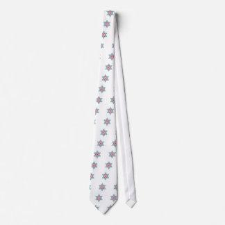 Colorized Star of David Seal design in Jerusalem Neck Tie