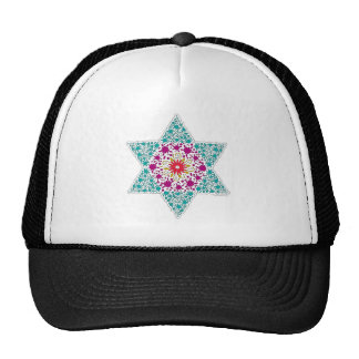Colorized Star of David Seal design in Jerusalem Trucker Hat