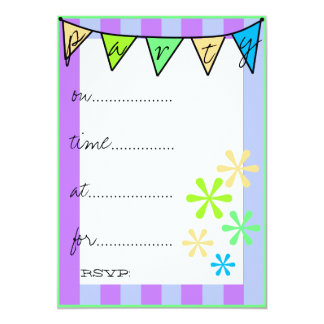 Colorlul Fun Bunting Flags -Party Card