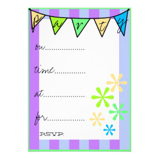 Colorlul Fun-Bunting-Party Announcements