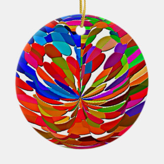 COLORmania LOTUS Abstract ColorSHOW Christmas Tree Ornaments