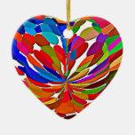 COLORmania LOTUS ColorSHOW abstracto Adorno Navideño De Cerámica En Forma De Corazón