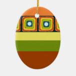 Colorofic Mirrors Christmas Tree Ornaments