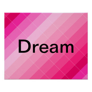 Colorplay Pink Artist Inspiration Poster DREAM