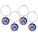 Colors and Emotions 2 Wine Glass Charm