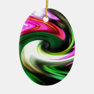 Colors and forms ceramic ornament