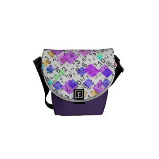 Colors and numbers courier bag