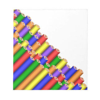 colors and pencils notepad