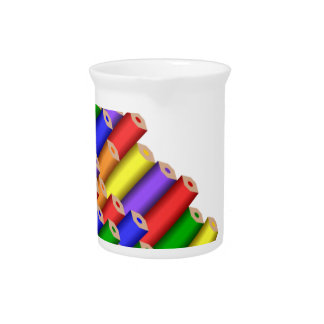 colors and pencils pitcher
