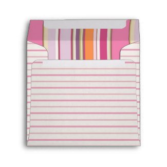Colors and Stripes Pink envelope