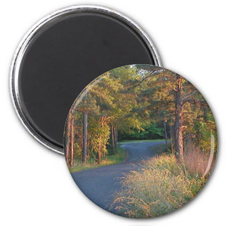 Colors at sunset 2 inch round magnet