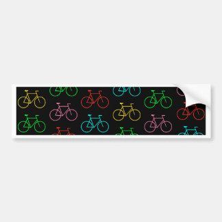 Colors Bike Bumper Sticker