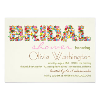 Colors Bridal Spring Flowers Bridal Shower Invite