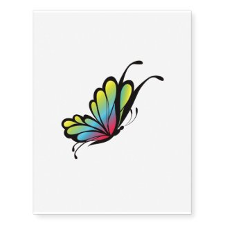 colors butterfly temporary tattoo