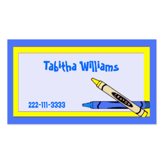 Colors Children's Calling Card Double-Sided Standard Business Cards (Pack Of 100)