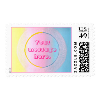 Colors Circle Sphere, Your message, postage stamps