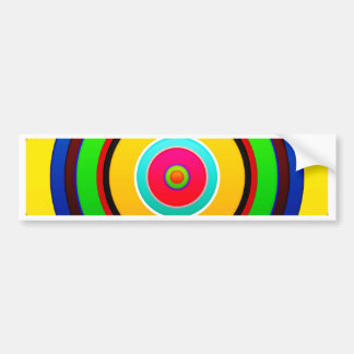 Colors Circle, Wall, Shapes Round, Art Style Dark Bumper Sticker
