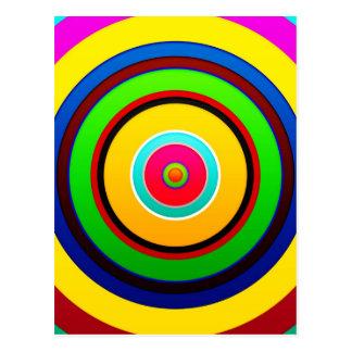 Colors Circle Wall Shapes Round Art Style Dark Postcard