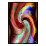 COLORS COLLIDE  #08A/C/481 GREETING CARD