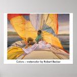 colors, Colors - watercolor by Robert Becker Print