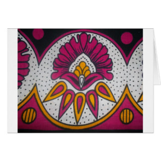 colors cool retro vintage African traditional styl Card