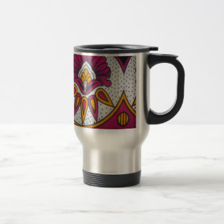 colors cool retro vintage African traditional styl Travel Mug