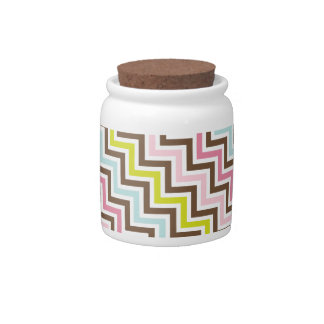 Colors Diagonal Zigzag Chevron Pattern Candy Dishes