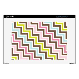 Colors Diagonal Zigzag Chevron Pattern Decal For Laptop