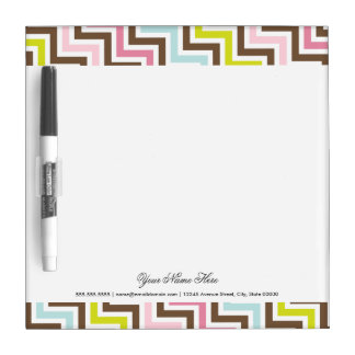 Colors Diagonal Zigzag Chevron Pattern Dry Erase Whiteboards