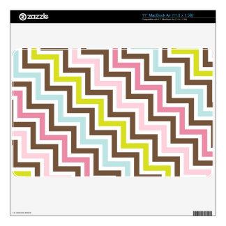 Colors Diagonal Zigzag Chevron Pattern MacBook Air Skins