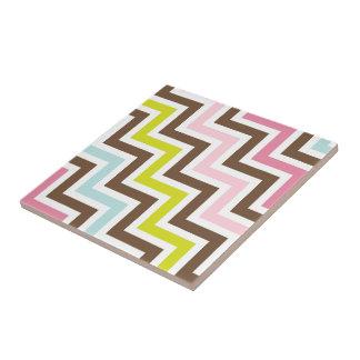 Colors Diagonal Zigzag Chevron Pattern Tile