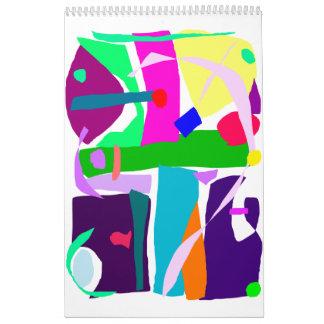 Colors Dots Stripes Curves Flair Calendar