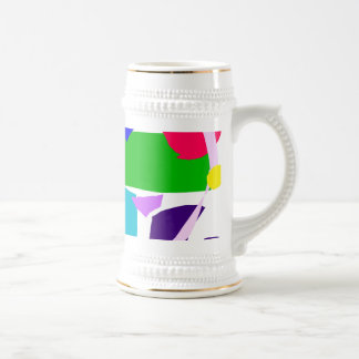 Colors Dots Stripes Curves Flair 18 Oz Beer Stein