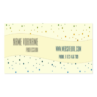 colors drip business card
