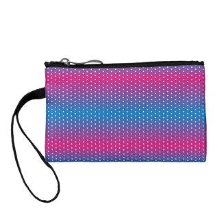 colors gradation polka dot coin purse