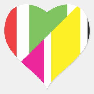 colors heart sticker