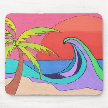Beach Themed Colors in a Wave Mouse Pad