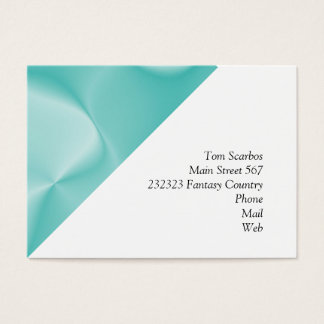 colors in motion,teal (I) Business Card