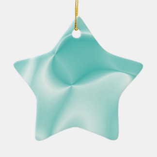 colors in motion,teal (I) Ceramic Ornament