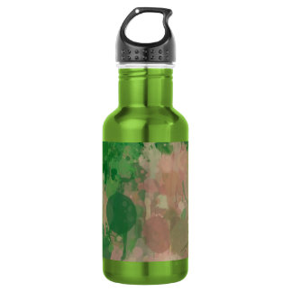 colors in revolt green 18oz water bottle