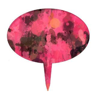 Colors in revolt,pink cake picks