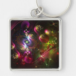Colors in the Sky Abstract Keychain