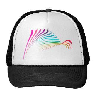 colors.jpgrainbow pastel colors waves design trucker hat