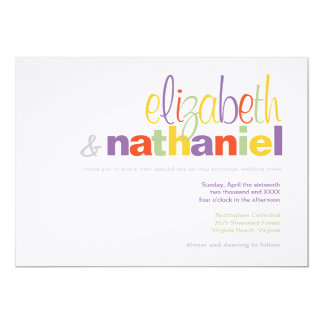 Colors: Modern Typographical Wedding Invitation