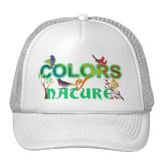 Colors nature colorful birds jungle cute cartoon trucker hat