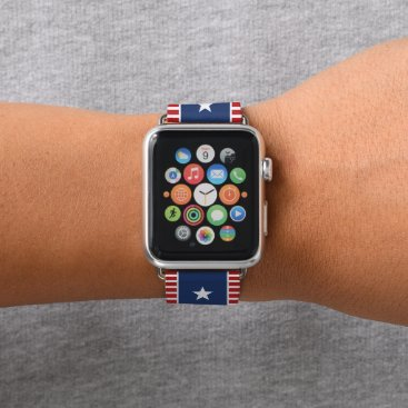 USA Themed Colors of American Flag. Stars and Spangled Banner Apple Watch Band