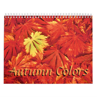 Colors of Autumn  2018 Calendar