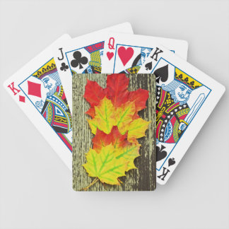 Colors Of Autumn Bicycle Playing Cards